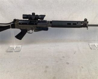 """Serial - BZ10238 Mfg - Imbel/Pars Intl Model - FAL Rifle Caliber - 7.62x51 NATO Barrel - 21"""" Type - Rifle, Semi Automatic Located in Chattanooga, TN Condition - 3 - Light Wear This is an FAL rifle built using an IMBEL receiver that was imported by Parts International. With FAL's being so hard to source right now and IMBEL receivers drying up, this FAL is perfect for those in need of a quality battle rifle. This rifle comes with a B Square dust cover for mounting picatinny mounted optics, this rifle is currently equipped with a Center Point Red dot optic.   ***THIS RIFLE COMES WITH NO MAGAZINE*** This rifle accepts metric pattern FAL mags (LEO SEARCH & SEIZURE)"""