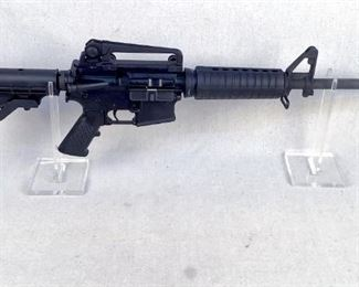 """Serial - L459516 Mfg - Bushmaster Model - XM15-E2S AR15 Rifle Caliber - 5.56 NATO Barrel - 16"""" Type - Rifle, Semi Automatic Located in Chattanooga, TN Condition - 3 - Light Wear The Bushmaster XM15-E2S was one of the most popular AR15 offerings in America due to the quality of manufacture and this rifle is no exception. This rifle comes with a 16"""" barrel, A2 handguards, an adjustable stock, and a removable carry handle. ***THIS RIFLE COMES WITH NO MAGAZINE*** (FORMER LAW ENFORCEMENT PATROL CARBINE)"""