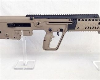 """Serial - T2006341 Mfg - IWI Model - Tavor-X95 Caliber - 556 Nato Barrel - 16.5"""" Capacity - 30 Type - Rifle, Semi Automatic Located in Chattanooga, TN Condition - 1 - New This is the IWI Tavor-X95, a bull-pup rifle chambered in 556. It is an upgrade form the original Tavor Sar including a new fire control pack, a reloacated ambidextrous mag relase, a forearm with pic rails at the 3,6, and 9 positions each with a removable rail cover, and a modular Tavor pistol grip that can be swapped out to a standard pistol grip."""