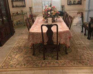 "Beautiful ""Banded"" Dining Room Table and Chairs"