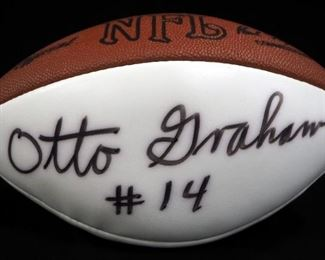 Otto Graham Cleveland Browns Autographed Football With COA