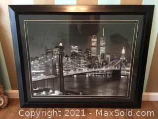 Vintage Framed Print Of NY City