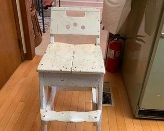 #512x13x30 white antique stool chair  $30.00