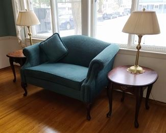 003 Sofa, End Tables, and Lamps