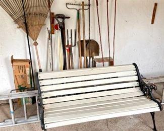 Bench, Ladders, Garden Assortment