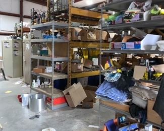 Plumbing company.  Large commercial shelving for sale.