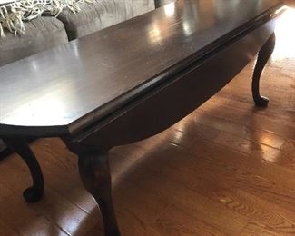 Mahogany table with side wings $50