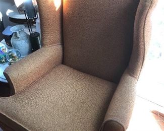 Orange wing back chairs $150 a pair