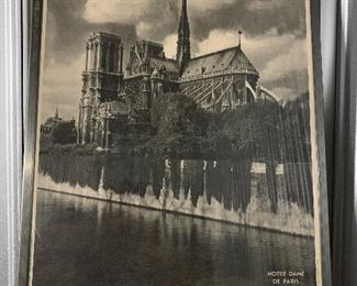 Large framed poster of Notre Dame, Paris -from the Paris tourism board, not a big box store copy