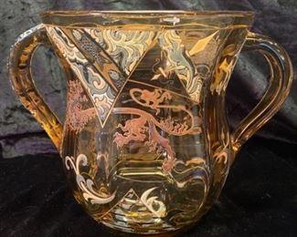 Signed Emile Galle Depose Glass Vase