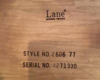 Lane record cabinets