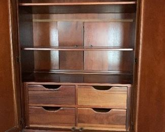 Ethan Allen armoire inside view