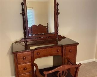 Beautiful Mt. Airy vanity with chair.