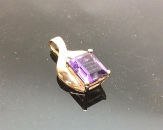 14KT GOLD AMETHYST STONE JEWELRY