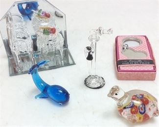 MINIATURE GLASS FIGURINES