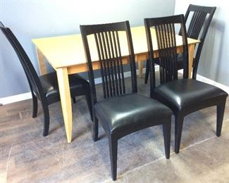 DINING TABLE & 4 ETHAN ALLEN CHAIRS