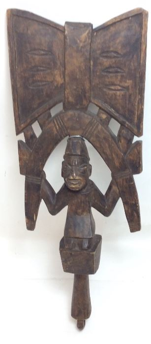 ANTIQUE AFRICAN TRIBAL HAND CARVED