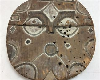 ANTIQUE AFRICAN TRIBAL MASK, 15''