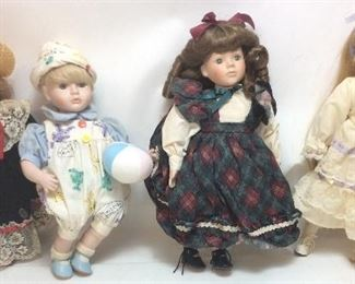 4 PORCELAIN DOLL COLLECTION