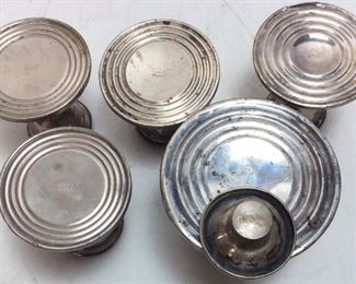 VTG. WEIGHTED STERLING SILVER CANDLE HOLDERS
