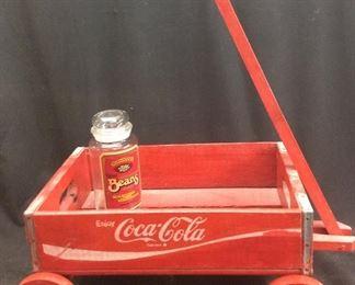 Coke Tray Wagon & Bean Jar
