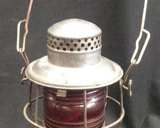 Antique Adlake Red Railroad Lantern