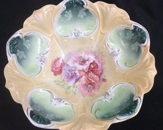 Vintage Rs Prussia Poppy Bowl Lg