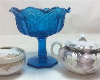 Vintage Blue Compote, Rs Prussia Sugar