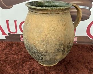 Early Redware Pottery Jar