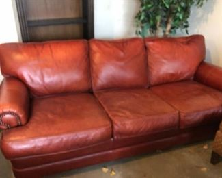 Walter E. Smithe leather sofa