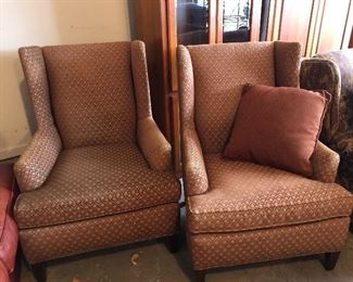 Walter E. Smithe tailored wing chairs