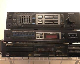 stereo components Kenwood & Pioneer