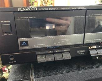 Kenwood double cassette deck