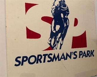 vintage Sportsmans Park sign
