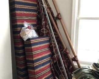 Large drapery hardware, drapes and valances
