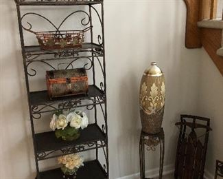 Metal stagers and other metal decor
