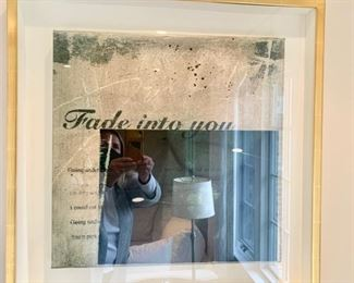 """30. Pair of Inspirational Prints in Gold Leaf Box Frames (27"""" x 27"""")"""