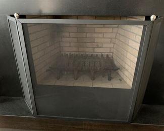 57. 3 Panel Fireplace Screen