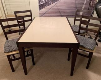 five piece dining set, table and chairs