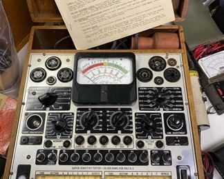 Series 954 Electronamic Tube and Set Tester, Precision Apparatus Company
