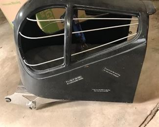 Hard shell pet carrier made especially for Harleys.