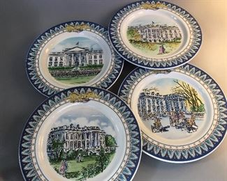 Tiffany & Co White House Bicentennial Decorative Plates