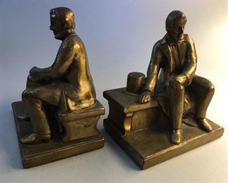 After Gutzon Borglum (1867-1941) Seated Abraham Lincoln Bookends