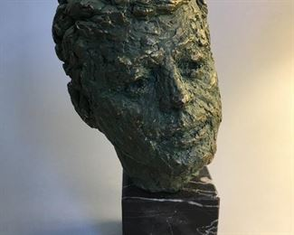 John Fitzgerald Kennedy Bust, After Robert Berks. As Seen at The Kennedy Center for The Performing Arts