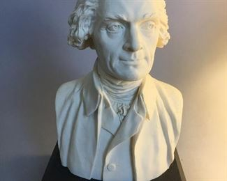 Resin Thomas Jefferson Bust after Jean-Antoine Houdon (French, 1741 – 1828)