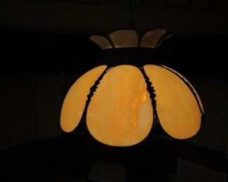 Stained glass hanging fixture