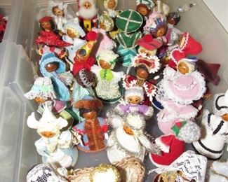 Hand made Xmas dolls representing different nations