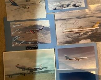 In basement, many paper items of Boeings airplanes.