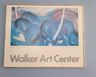 "Franz Marc ""The Large Blue Horses"" Walker Art Center Exhibition Poster"