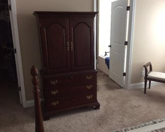 CHEST OF DRAWERS AND T V CABINET